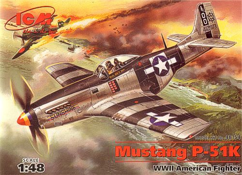 ICM North-American P-51K Mustang makett