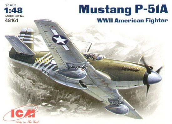 ICM North-American P-51A Mustang USAF makett