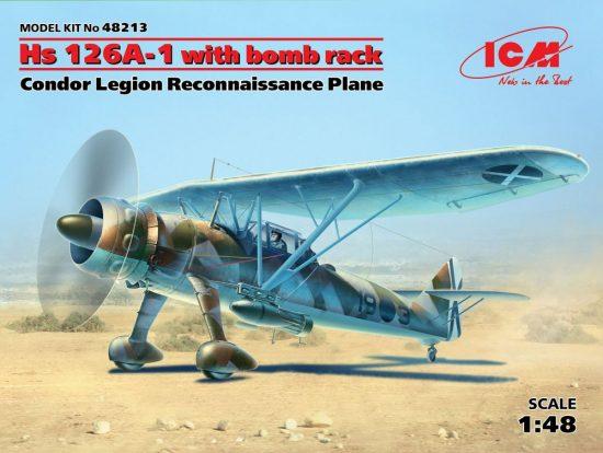ICM Henschel Hs 126A-1 with bomb rack makett