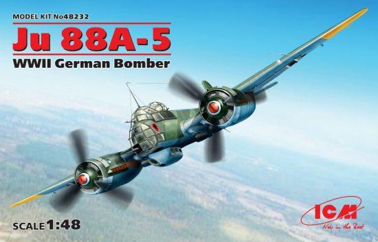 ICM Junkers Ju 88A-5 WWII German Bomber makett