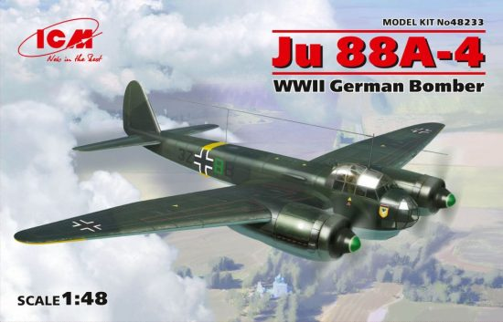 ICM Ju 88A-4 WWII German Bomber makett
