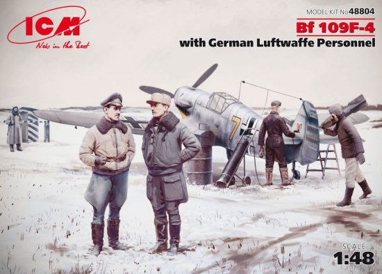ICM Bf 109F-4 with German Luftwaffe Personnel makett
