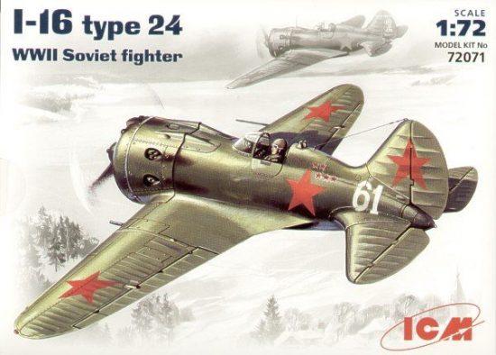 ICM Polikarpov I-16 type 24 makett