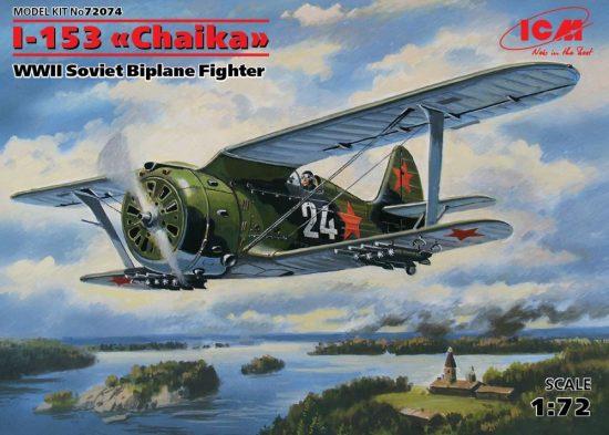 "ICM Polikarpov I-153 ""Chaika"" makett"