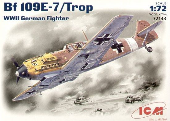 ICM Messerschmitt Bf 109E-7 Tropical makett