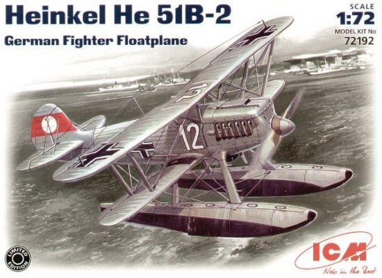 ICM Heinkel He 51B-2 floatplane makett