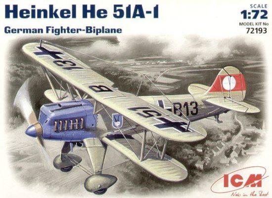 ICM Heinkel He 51A-1 makett