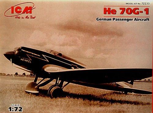 ICM Heinkel He 70G-1 makett