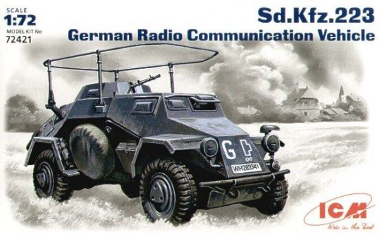ICM Sd.Kfz.223 radio communication vehicle makett