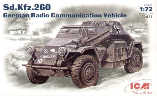 ICM Sd.Kfz.260 Radio communication vehicle makett