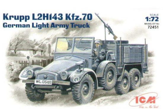 ICM Krupp L2H143 Kfz.70 German Light Truck makett