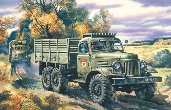 ICM Soviet Zil-157 Army Truck makett