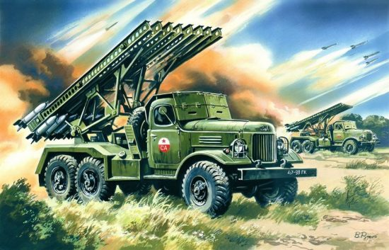 ICM BM-13-16 Katiusha Soviet Mutiple Launch Rocket System makett