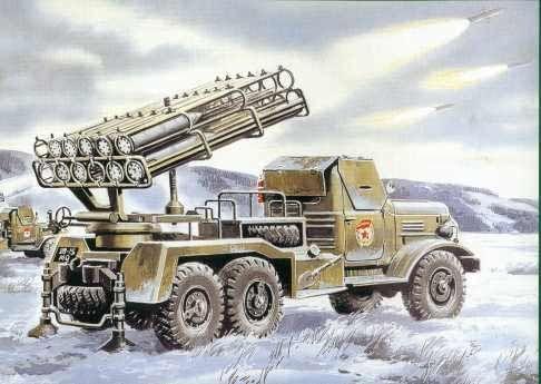 ICM BM-24-12 Soviet Mutiple Launch Rocket System makett