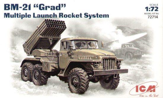 ICM Soviet BM-21 Grad multiple rocket launch system makett