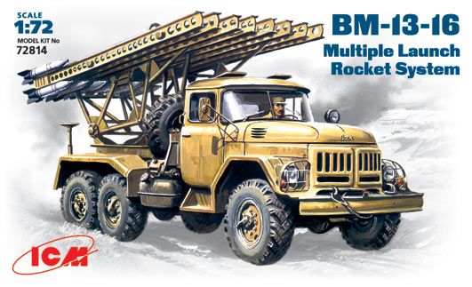 ICM BM-13-16 Mutiple Launch Rocket System makett