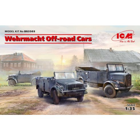 ICM Wehrmacht Off-road Cars (Kfz1,Horch 108 Typ 40, L1500A) makett