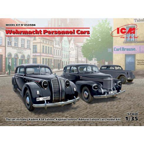ICM Wehrmacht Personnel Cars (Kadett K38 Salo, Kapitan Saloon, Admiral Saloon) makett