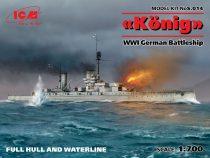 ICM König WWI German Battleship Full hull and waterline makett