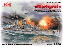 ICM WWI German Battleship Markgraf makett