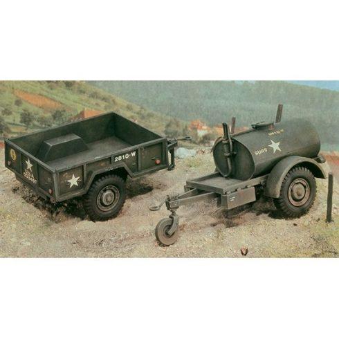 Italeri TankTrailer+M101 KargoTrailer makett