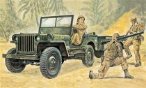 Italeri Willys MB Jeep with Trailer makett