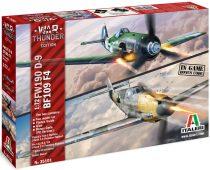 Italeri WAR THUNDER - BF 109F-4 & FW 190D-9 makett