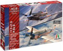 Italeri WAR THUNDER - P-47N & P-51D makett