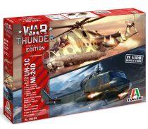 Italeri WAR THUNDER - UH-1C & MI-24D makett
