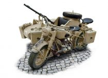 Italeri BMW German Military Motocycle with side car makett
