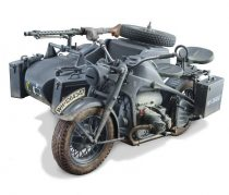 Italeri ZUNDAPP KS 750 with Sidecar makett