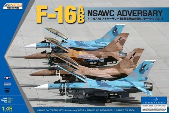Kinetic F-16A/B NSWAC Agressor makett