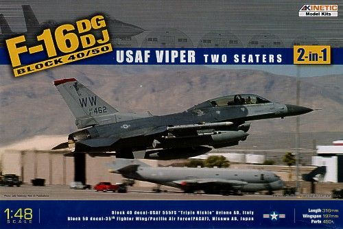 Kinetic F-16C Block 50-USAF Viper makett