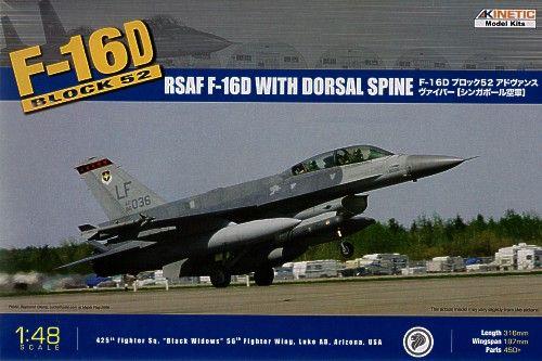 Kinetic F-16D Block 52 + RSAF makett