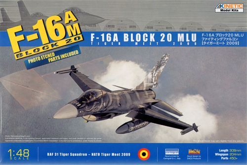 Kinetic F-16A Tiget Meet 2009 (W/PE) makett