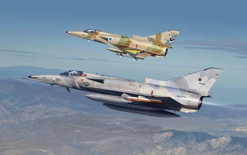 Kinetic F-21/KFIR C1 makett
