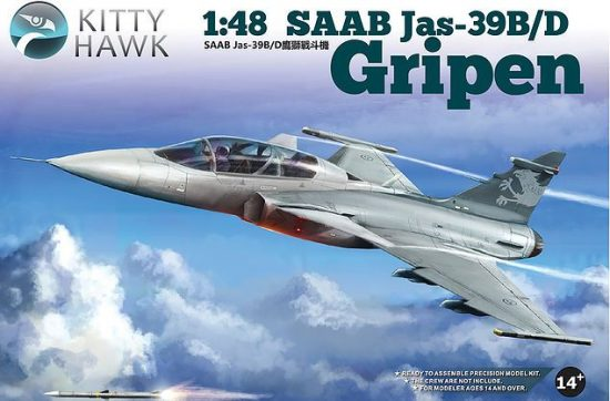 Kitty Hawk Jas-39B/D Gripen makett