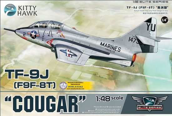 Kitty Hawk Grumman TF-9J Cougar (F9F-8T) makett