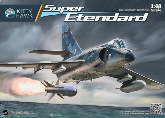 Kitty Hawk Dassault Super Etendard makett