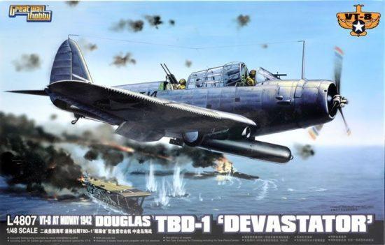 Great Wall Hobby Douglas TBD-1 Devastor - VT-8 1942 makett