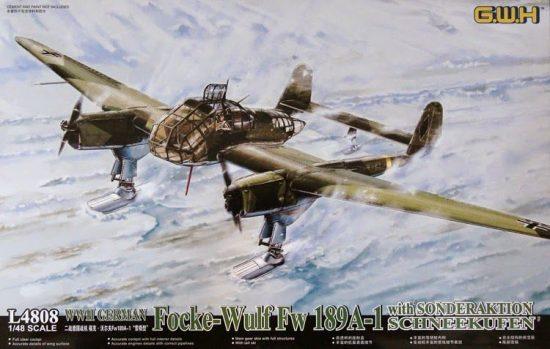 Great Wall Hobby Focke-Wulf Fw 189A-1 with Sonderaktion Schneekufen makett