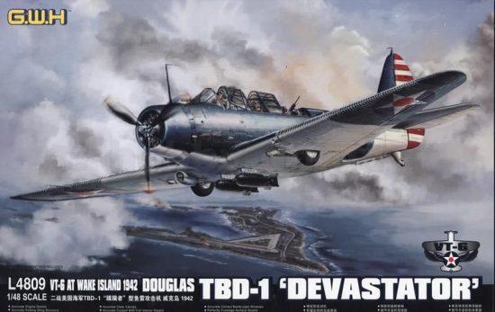 Great Wall Hobby Douglas TBD-1 'Devastator' , VT-6 at Wake Island 1942 makett