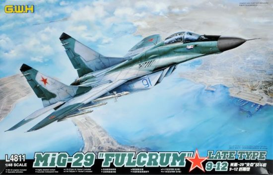 """Great Wall Hobby Mikoyan MiG-29 9-12 """"Fulcrum"""" Late Type"""