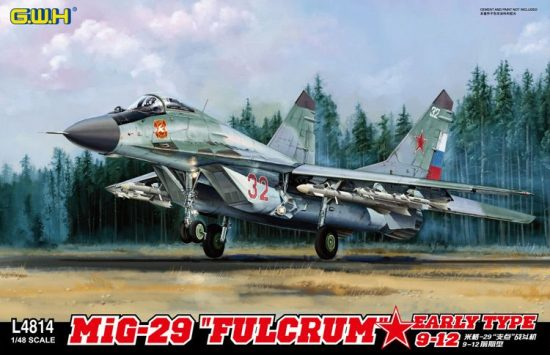 """Great Wall Hobby Mikoyan MiG-29 9-12 """"Fulcrum"""" Early Type makett"""