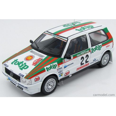 LAUDORACING FIAT UNO TURBO IE TOTIP N 22 RALLY PORTUGAL 1986 G.DEL ZOPPO - L.ROGGIA