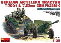 MiniArt German T-70 and 76,2mm FK 288 mit Crew makett