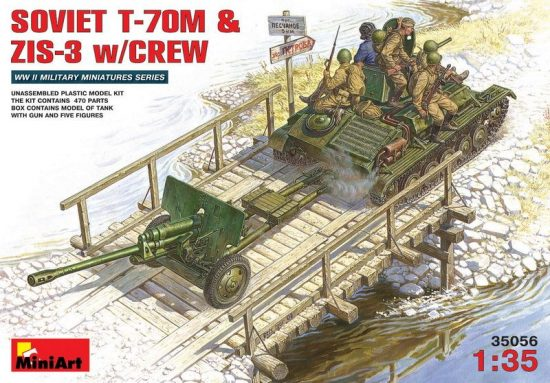 MiniArt Soviet T-70M and ZiS-3 with Crew makett
