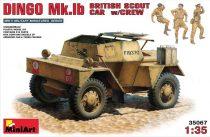 MiniArt Dingo Mk.Ib British Scout Car with Crew makett