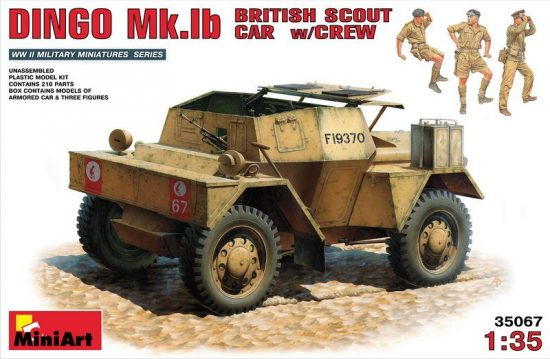 MiniArt Dingo Mk.Ib British Scout Car with Crew makett