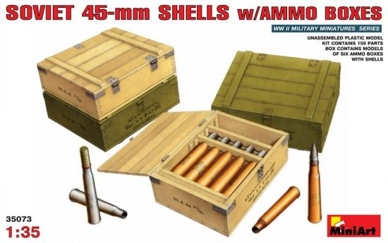 MiniArt Soviet 45-mm Shells with ammo boxes